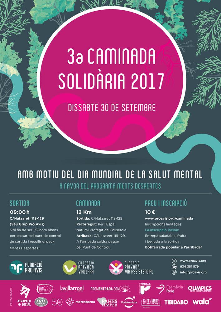 3a Camindada Solidària 2017 Dia Mundial Salut Mental | Associació de Bipolars de Catalunya